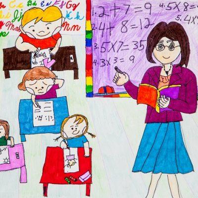 Teacher Madilyn Nim 8歲