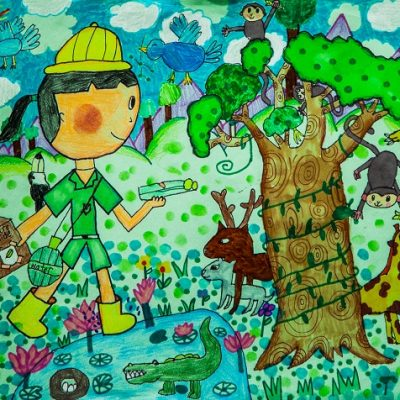 The forest I visited Melody Pei 7歲
